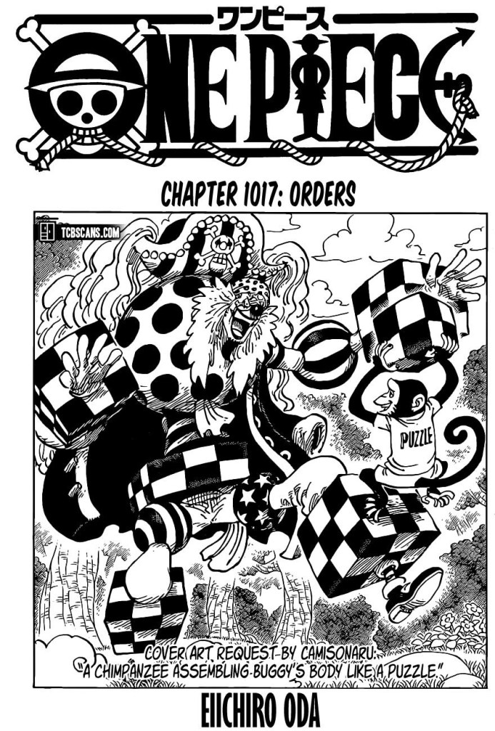 One Piece Chapter 1017 Cover Page