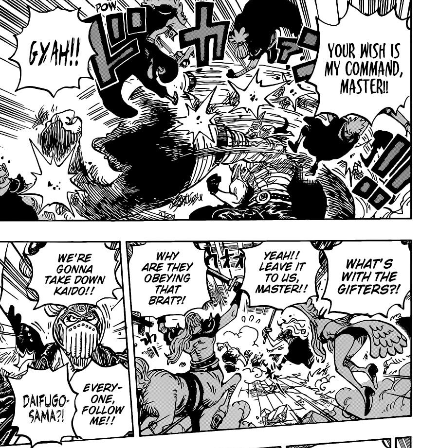 One Piece Chapter 1017-The Gifters Follow Otama's Orders