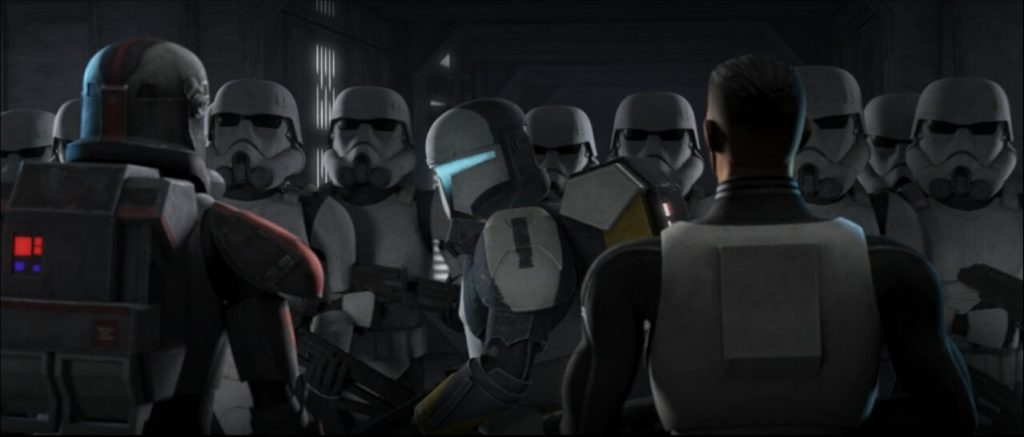 Star Wars: The Bad Batch Episode 14-Scorch Cameo With Early Stormtroopers
