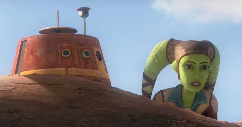 Star Wars: The Bad Batch Episode 11-Young Hera and Chopper