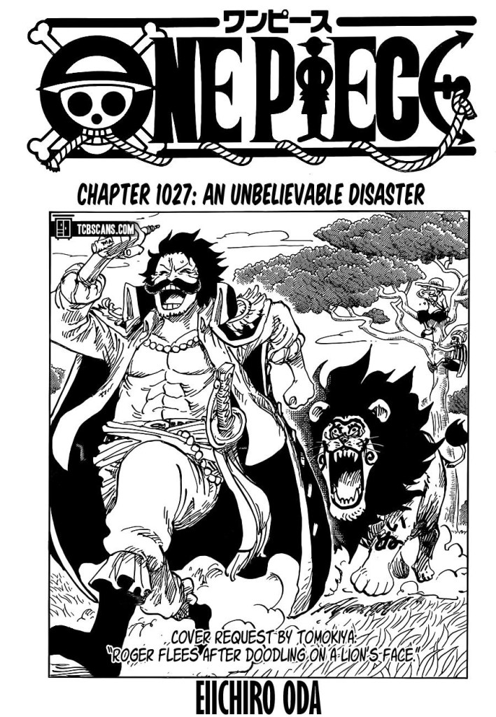 One Piece Chapter 1027 Cover Page