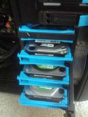 Additional hard drives installed