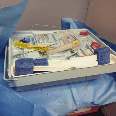 Sample epidural tray