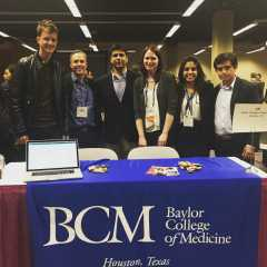 Baylor Med's group at the meet-and-greet event