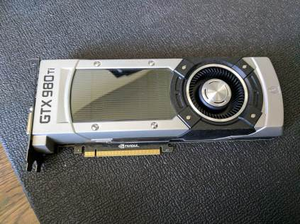 Reference NVIDIA GTX 980 Ti with blower style fan cooling