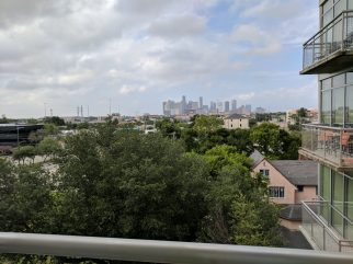 Last view of downtown Houston from my apartment