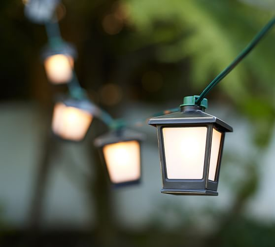 Malta Mini Lantern String Lights Pottery Barn