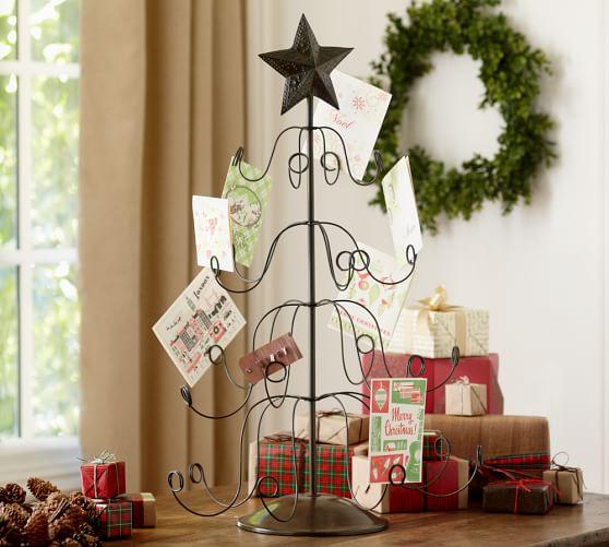 Tree Holiday Card Holder Pottery Barn