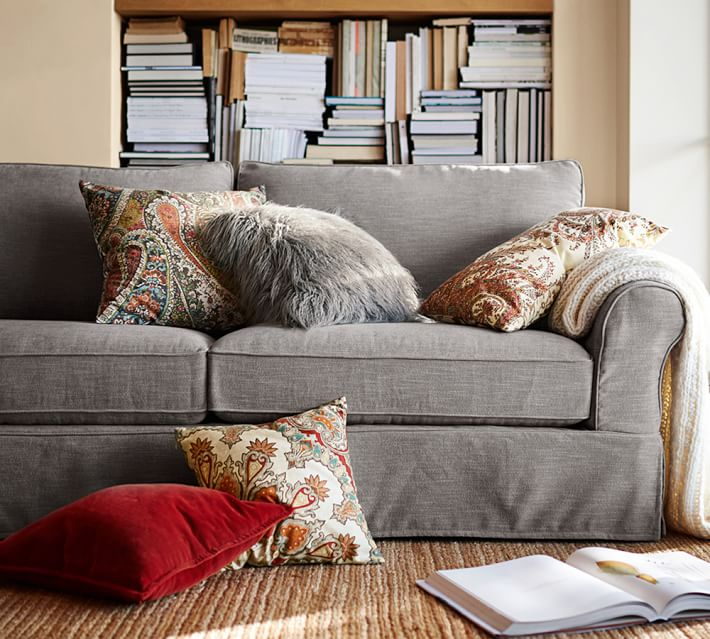Pb Comfort Roll Arm Slipcovered Sofa Pottery Barn