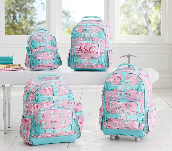 mackenzie pink sun cat backpack pottery barn kids