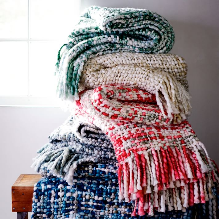 Marled Basketweave Throw on sale for $95.49 from WestElm.com