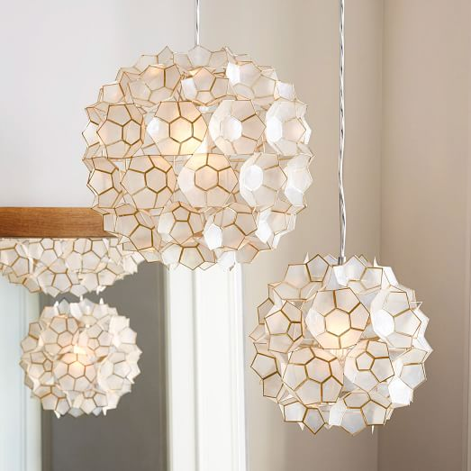 Capiz Flower Pendant Light