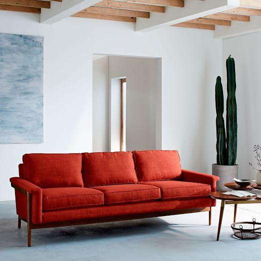 Leon Wood Frame Sofa West Elm