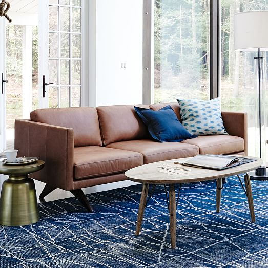 Brooklyn Leather Sofa 81 West Elm