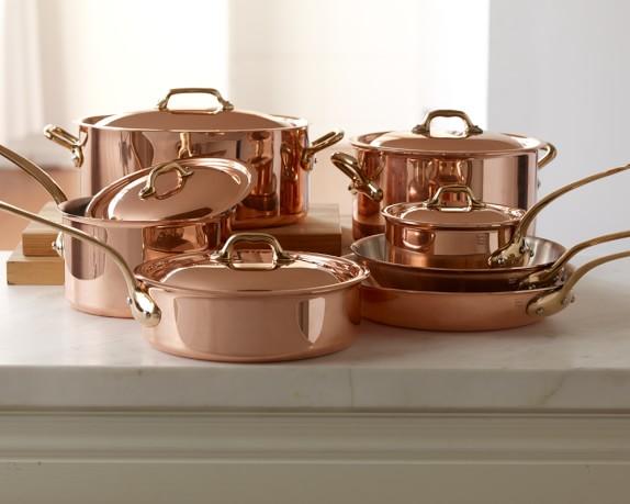 Mauviel Copper 12 Piece Cookware Set Williams Sonoma