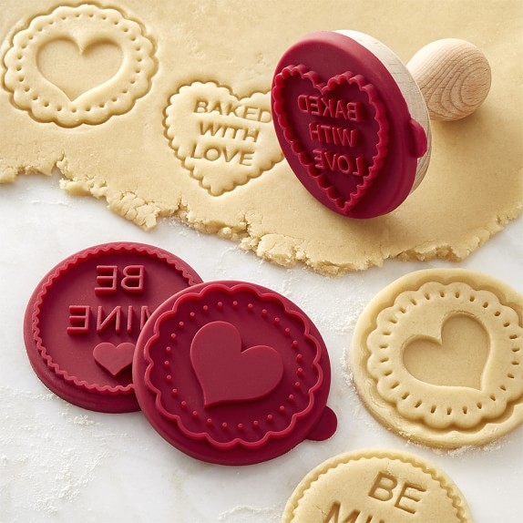 Williams Sonoma Valentines Day Cookie Stamps Set Of 3