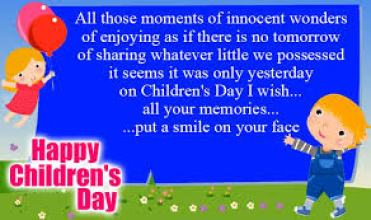 Happy Childrens Day Wishes Poster in English