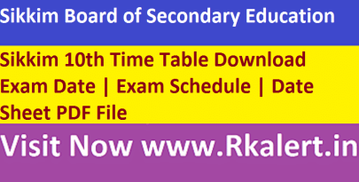 Sikkim 10th Time Table
