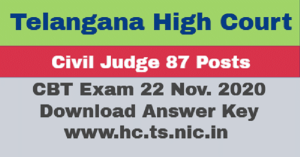 TS High Court Civil Judge Answer Key 2020