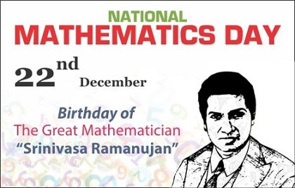 Happy National Mathematics Day Drawing Poster Banner