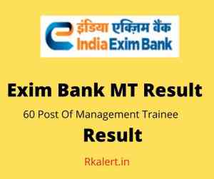 Exim Bank MT Result