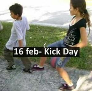 Kick Day Funny images HD Photo Pics For GF BF