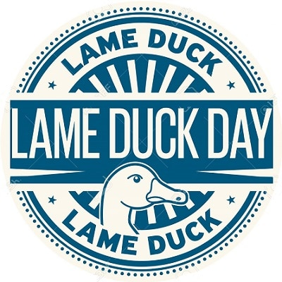Lame Duck Day rubber stamp
