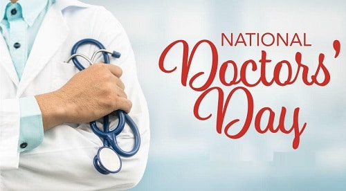 National Doctors Day graphic