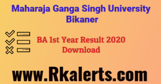 MGSU BA 1st Result 2020 name wise roll number wise download