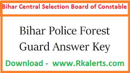 Bihar Police Forest Guard Answer Key 2020