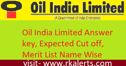 Oil India Limited Answer key 2020