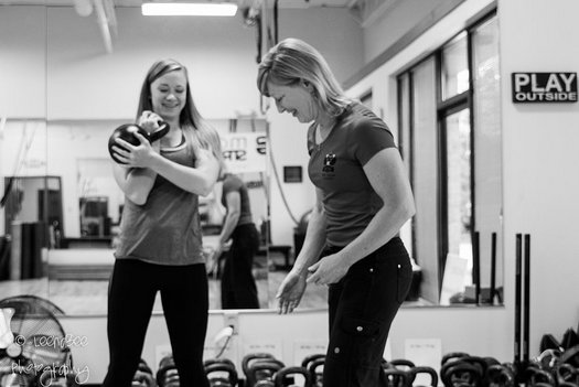 Lori Crock Coaching Kettlebell Cleans