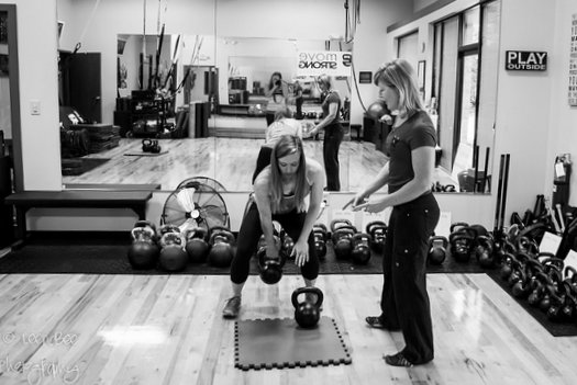 RKC Team Leader Lori Crock Coaching Swings