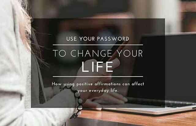 パスワードを変えて人生を変える