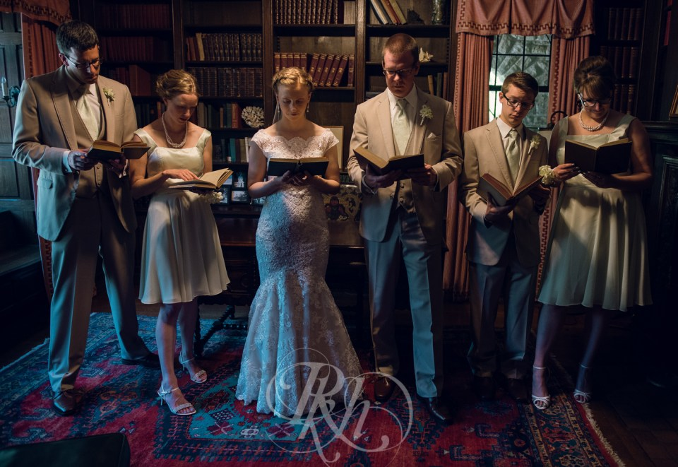 Library wedding photography