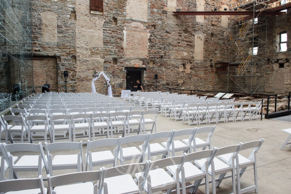 Mill City Museum wedding ceremony layout