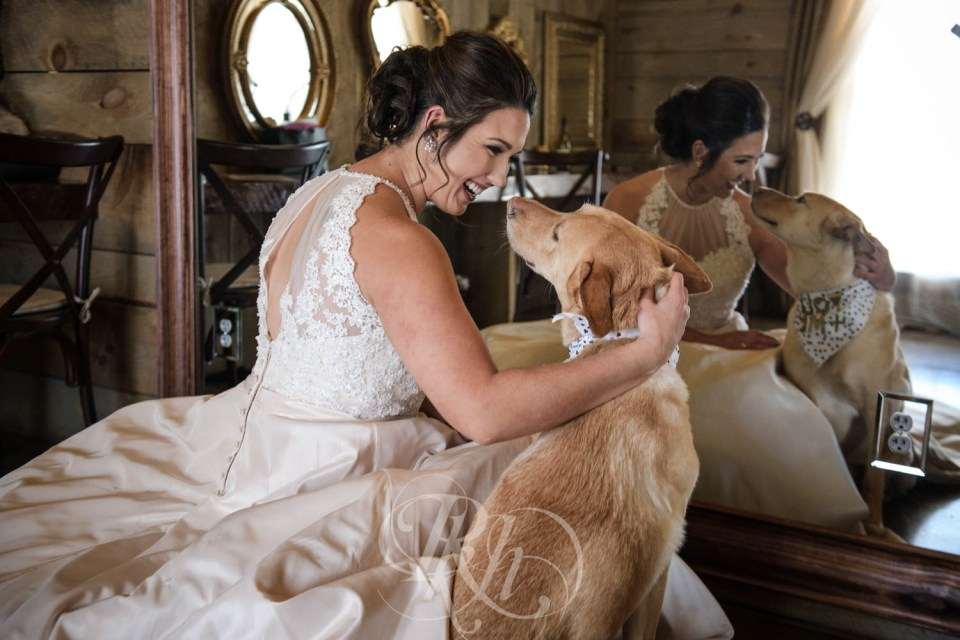 Bride with German Shepherd