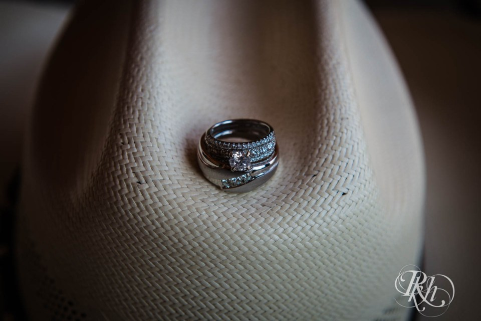 Wedding ring on cowboy hat
