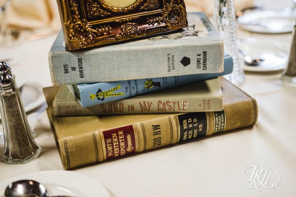 Book wedding centerpiece
