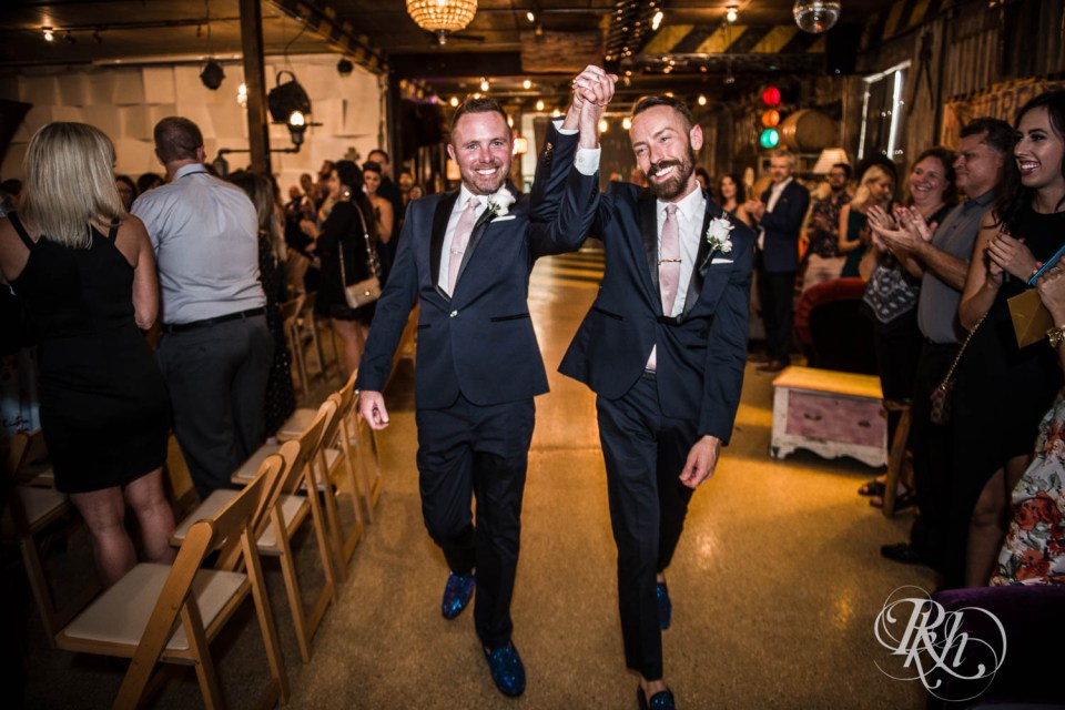 Grooms after ceremony