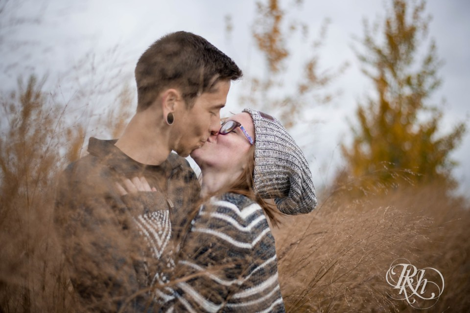 chilly engagement photos
