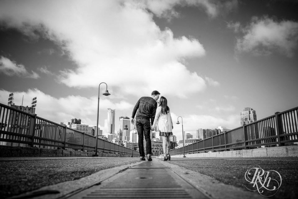 Stone Arch Bridge Engagement Photos
