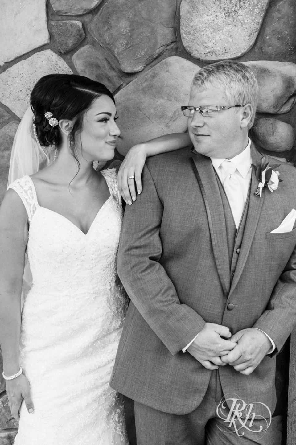 Super cute photo of bride looking at groom