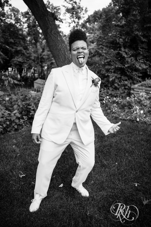 Lesbian bride tuxedo