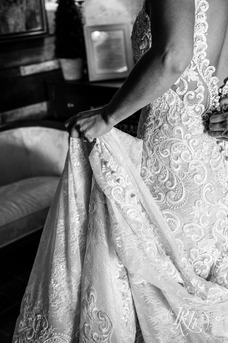 wedding dress bride holding
