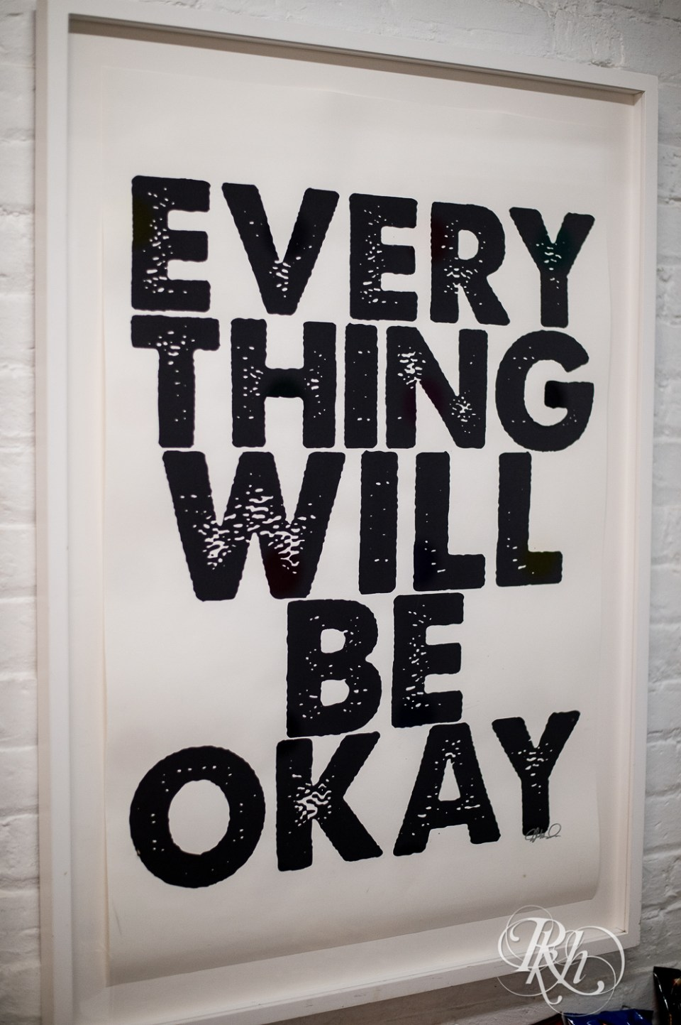 everything will be okay sign aria