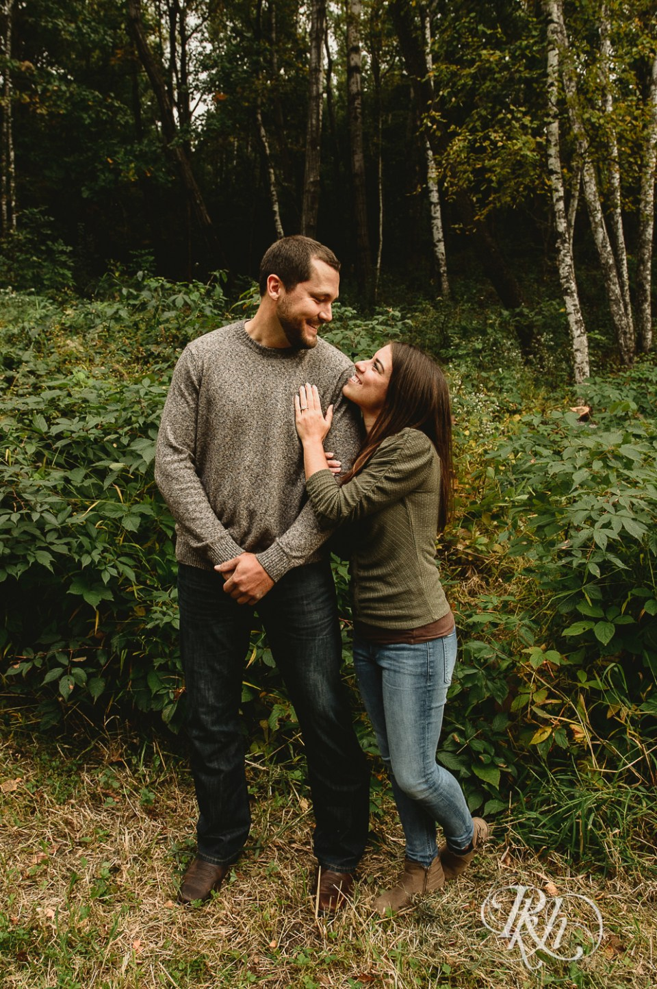 engagement photography woods