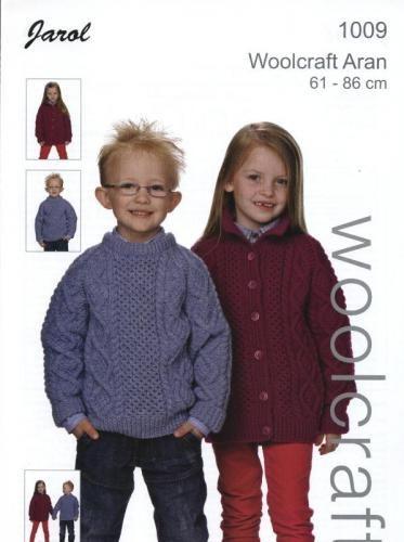 1009 Aran Childs Sweater and Cardigan