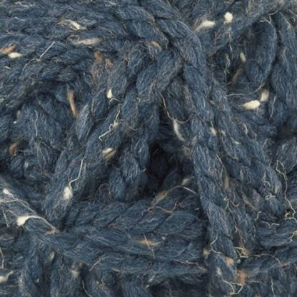 James C Brett Rustic Mega Chunky CS9 Navy Fleck