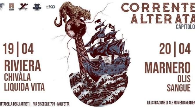 Corrente Alterata – Riviera e Marnero live alla Cittadella degli Artisti di Molfetta